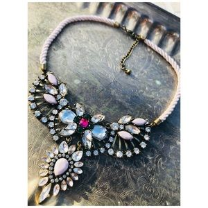 💖H&M💖 Pink Crystal Layer Necklace